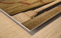 The conversation Wood print