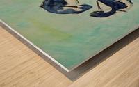 Stilts Bathing  Wood print