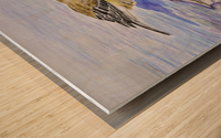 Warbler Reflection Wood print
