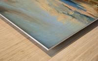 Meeresbucht in Italien Impression sur bois