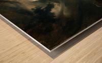 Sturmische See mit Leuchtturm Impression sur bois
