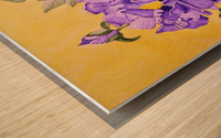Purple Peony Wood print