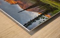 Reflection Of Skookum Volcano Wood print