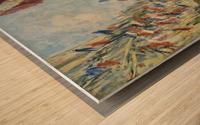 Monet - The Rue Montorgueil in Paris Wood print