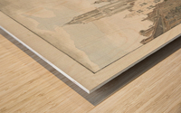 Nieuwstraat door Wood print