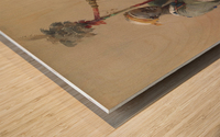 A Nubian harper Wood print