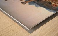 A caravan resting Wood print