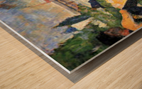 A swimming pool in Asnieres, study by Seurat Wood print