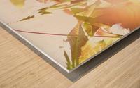 Leaves Macro 1  Wood print