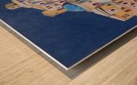 Memory of Santorini Wood print