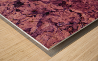 psychedelic grunge painting abstract texture in pink Wood print