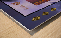 A3ThreeDiamondCard Wood print