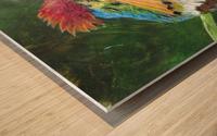 Tufted Coquette Hummingbird Wood print