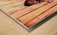MR. GRUNT (homless man) Wood print