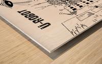 struggle Wood print
