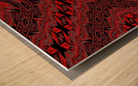 Red Velvet Butterfly Wood print