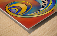 Redemessia - spiral piano Wood print
