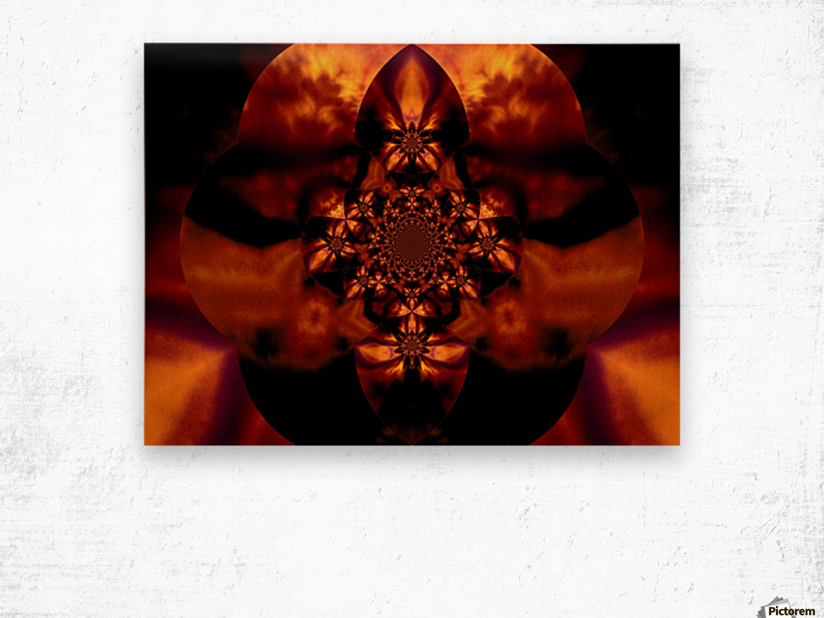 Fire Orchid 1 Wood print