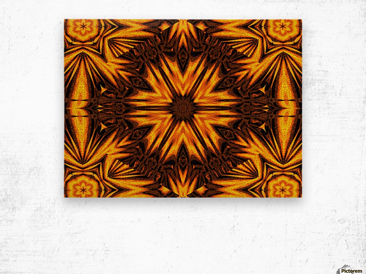 Golden Dandelion Wood print