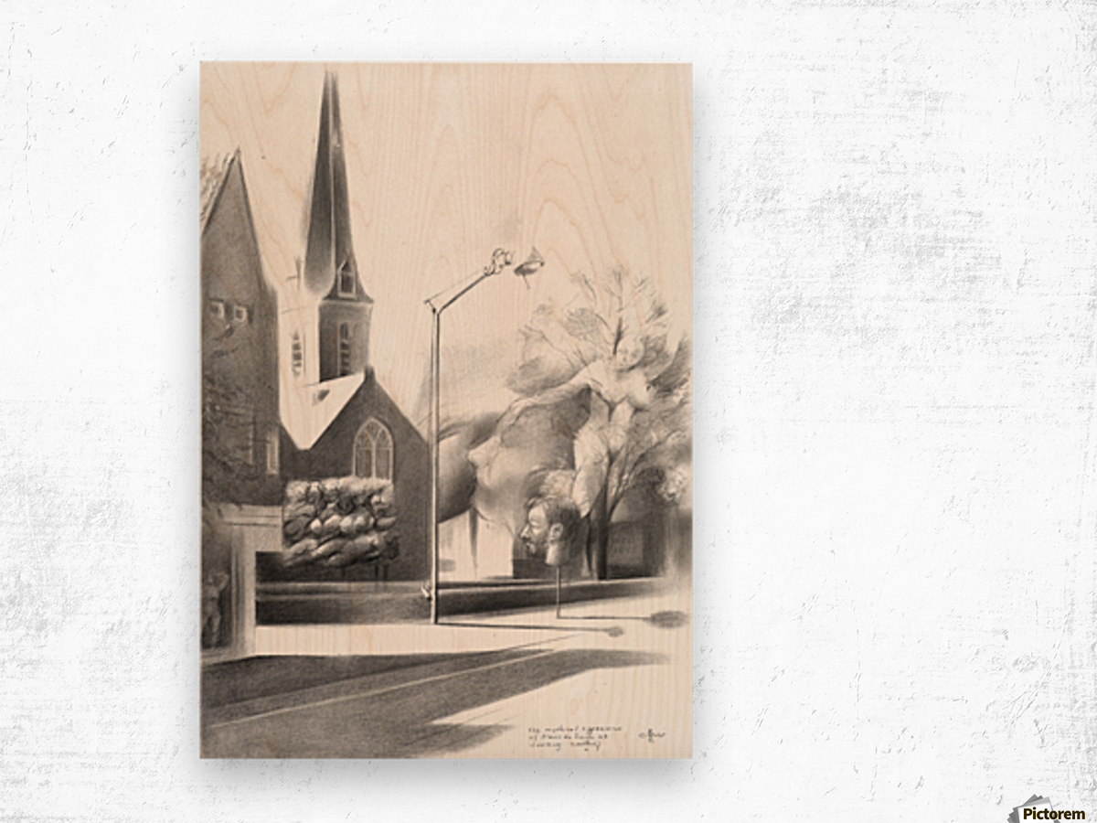 The mythical appearance of Alexis de Roode at Voorburg - 15-05-17  Wood print