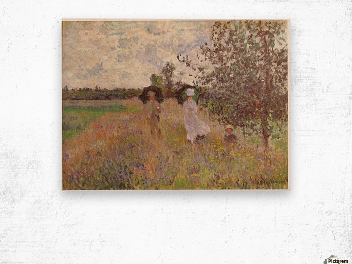 Promenade a Argenteuil 1875 by Monet Wood print