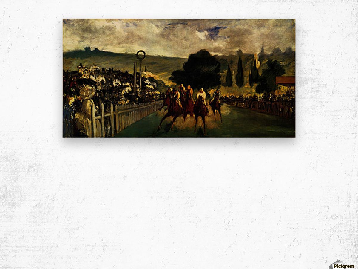 Race at Longchamp by Edouard_Manet Wood print