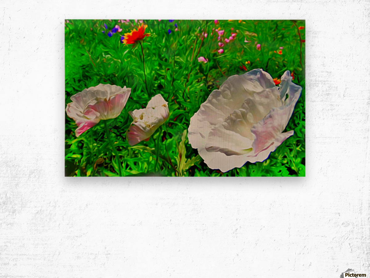 whiteflower Wood print