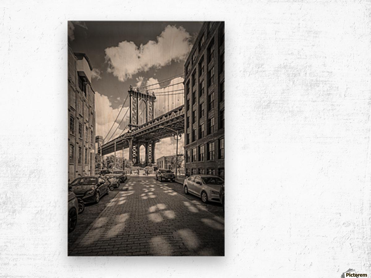NEW YORK CITY Manhattan Bridge Wood print