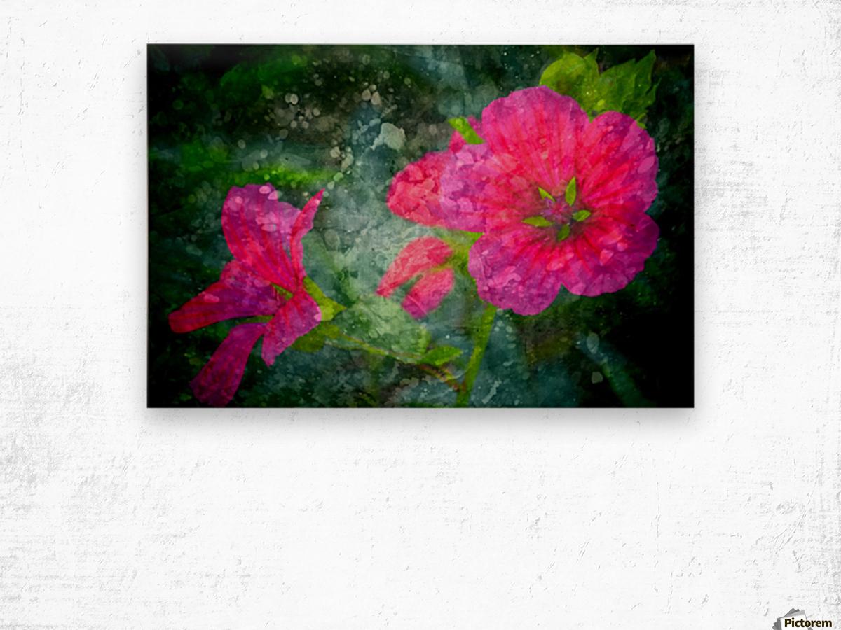 Fleurs d'artifices Wood print