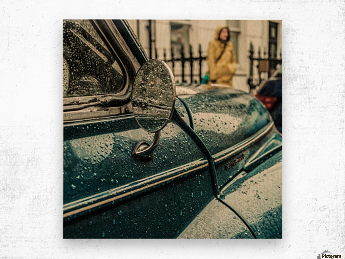 London Rain Impression sur bois