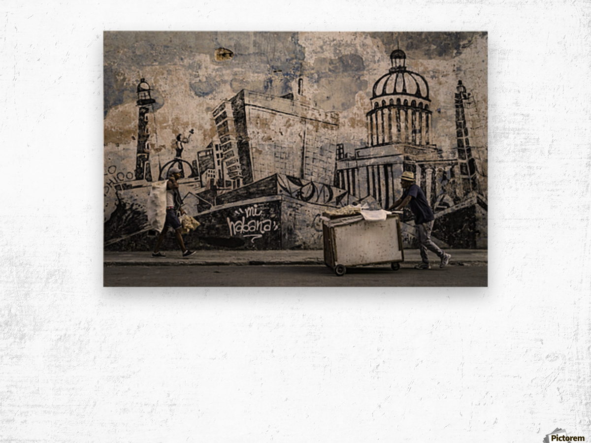 Mi Habana Wood print