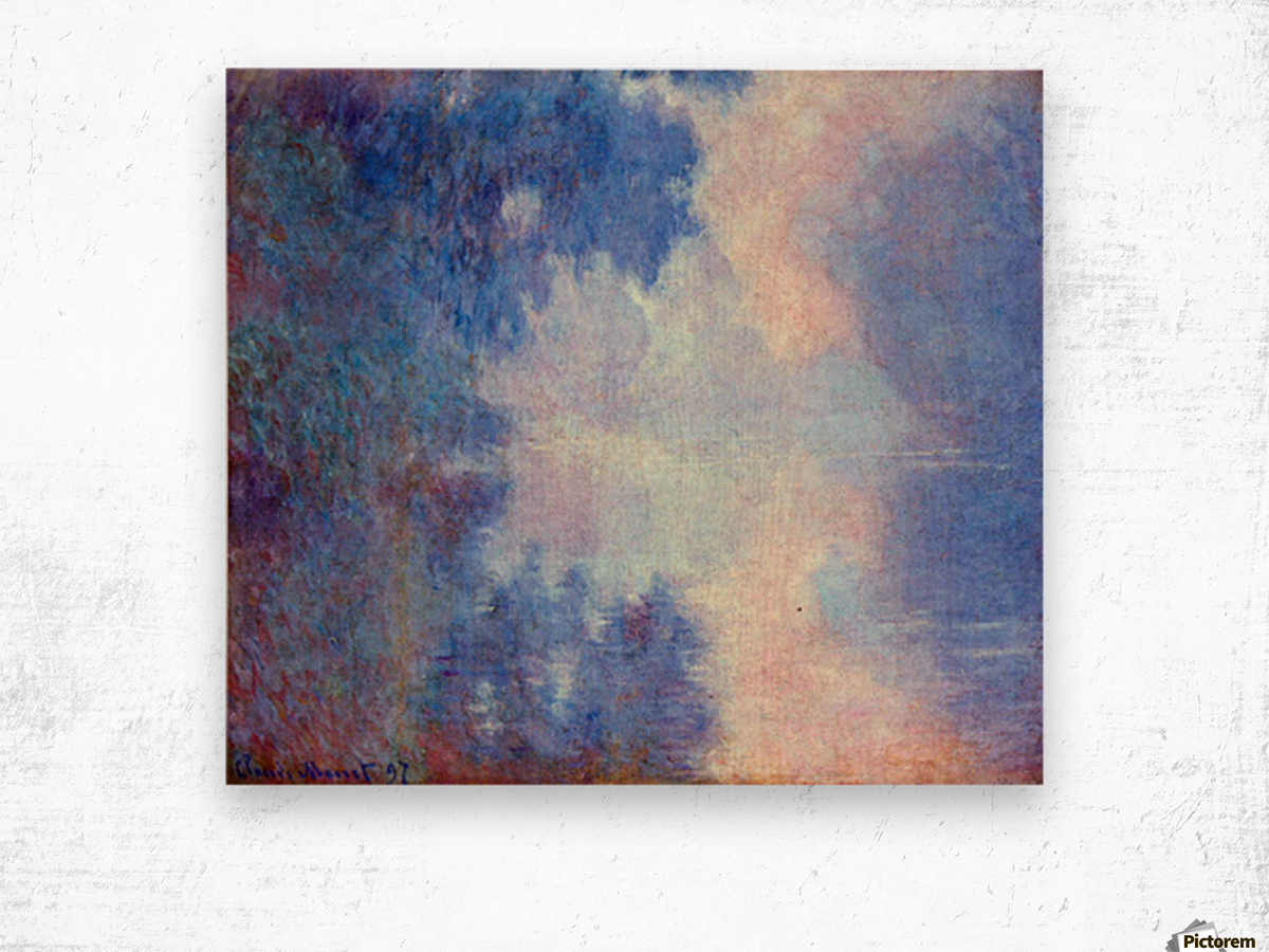 Seine in Morning by Monet Wood print