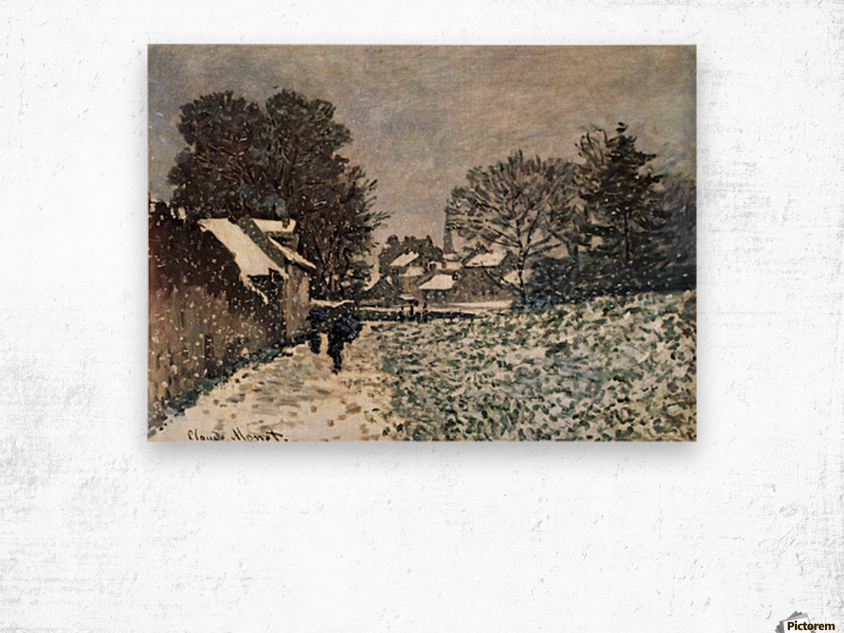 Snow at Argenteuil by Monet Wood print