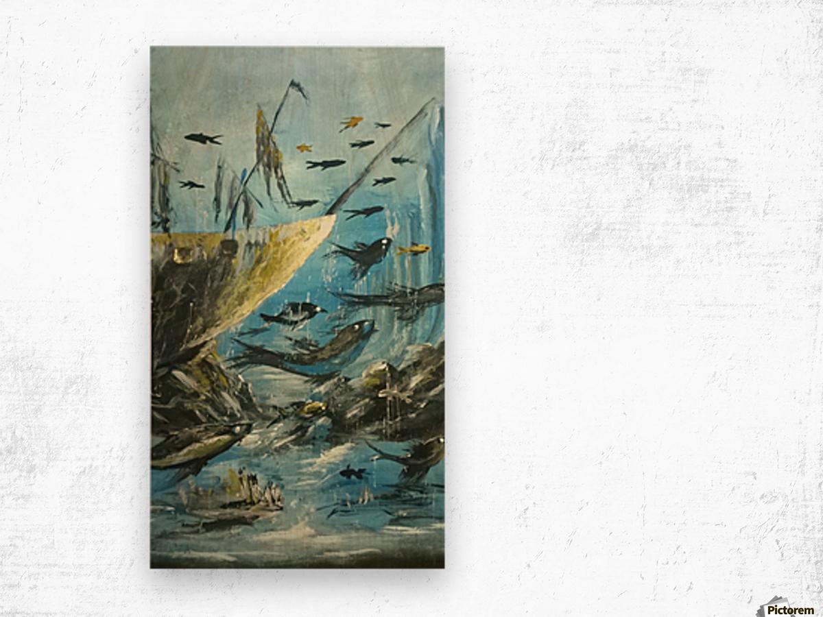under sea Wood print