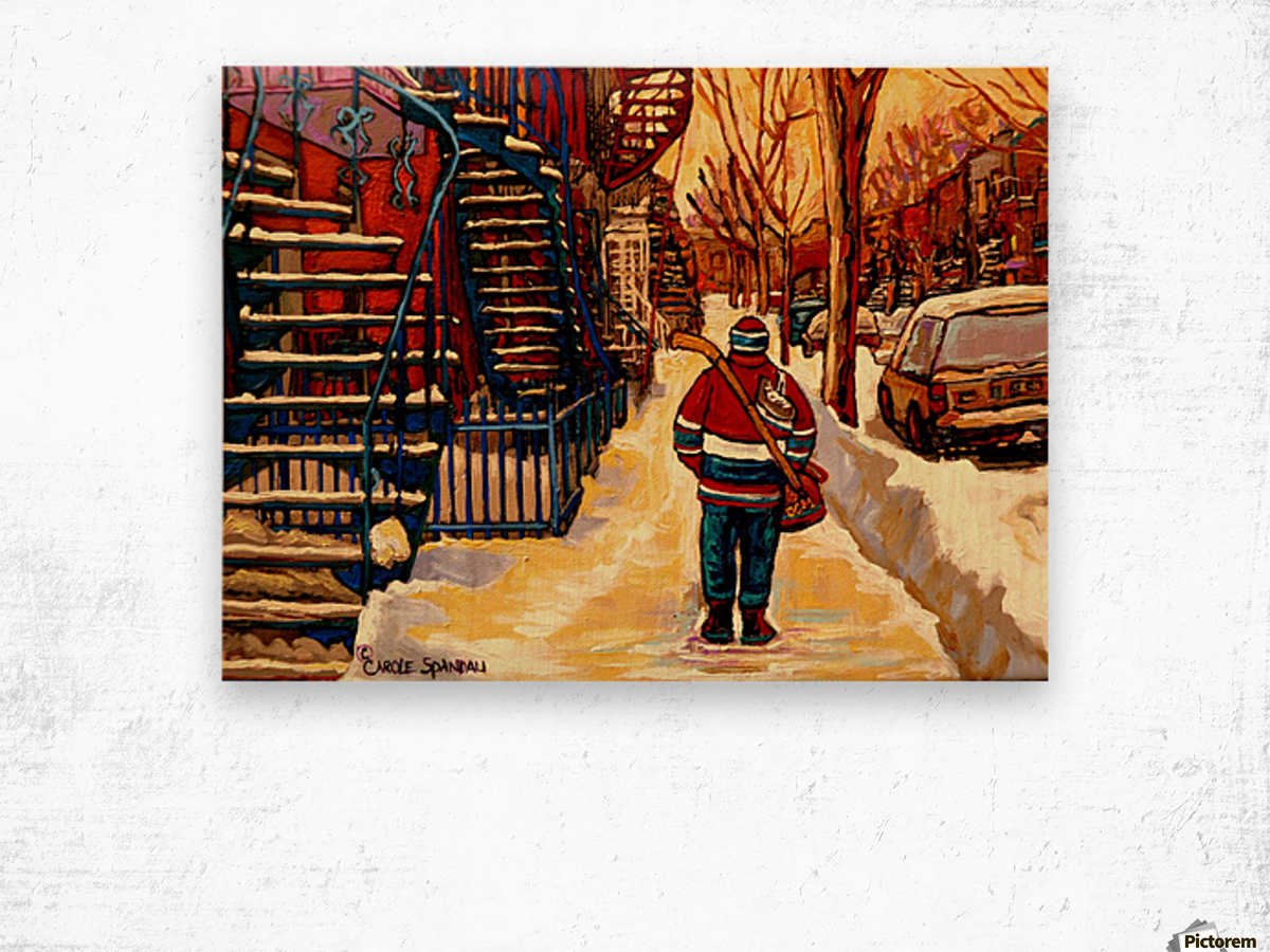 AFTER THE HOCKEY GAME Wood print