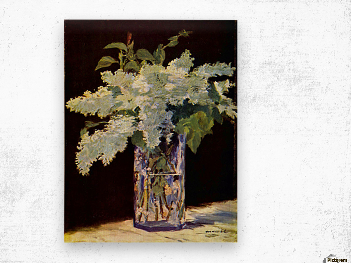 Still Life by Manet Wood print