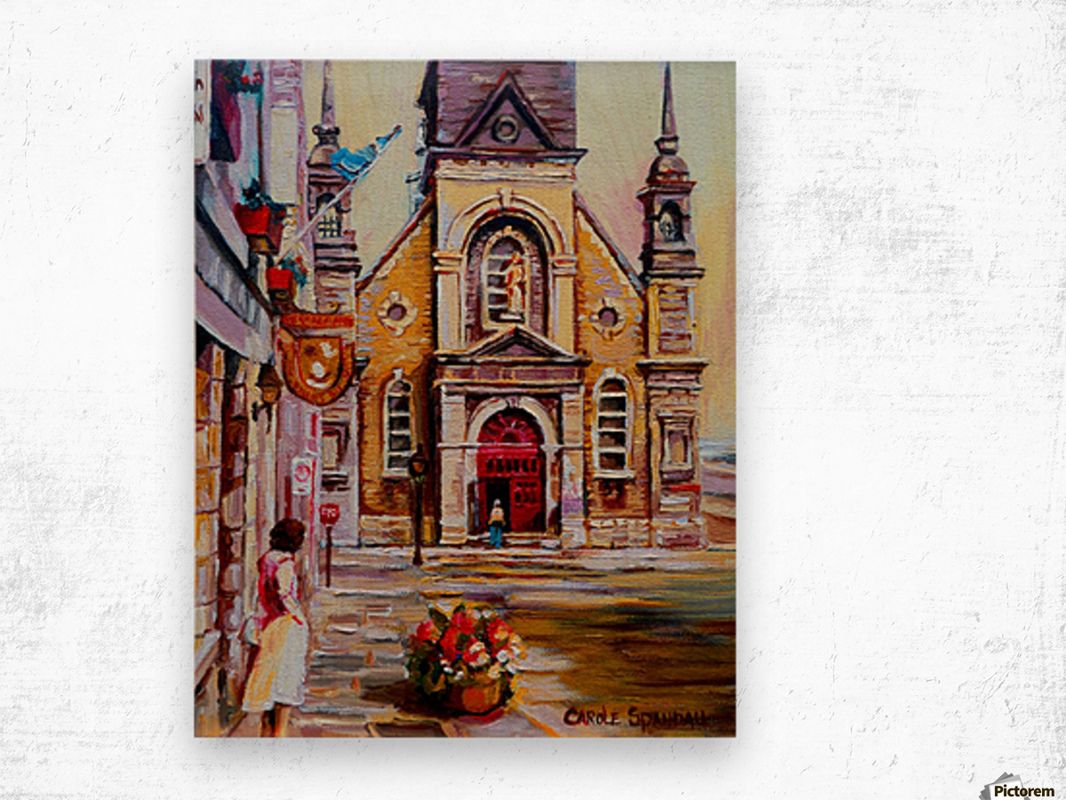 EGLISE BONSECOURS VIEUX MONTREAL  Wood print