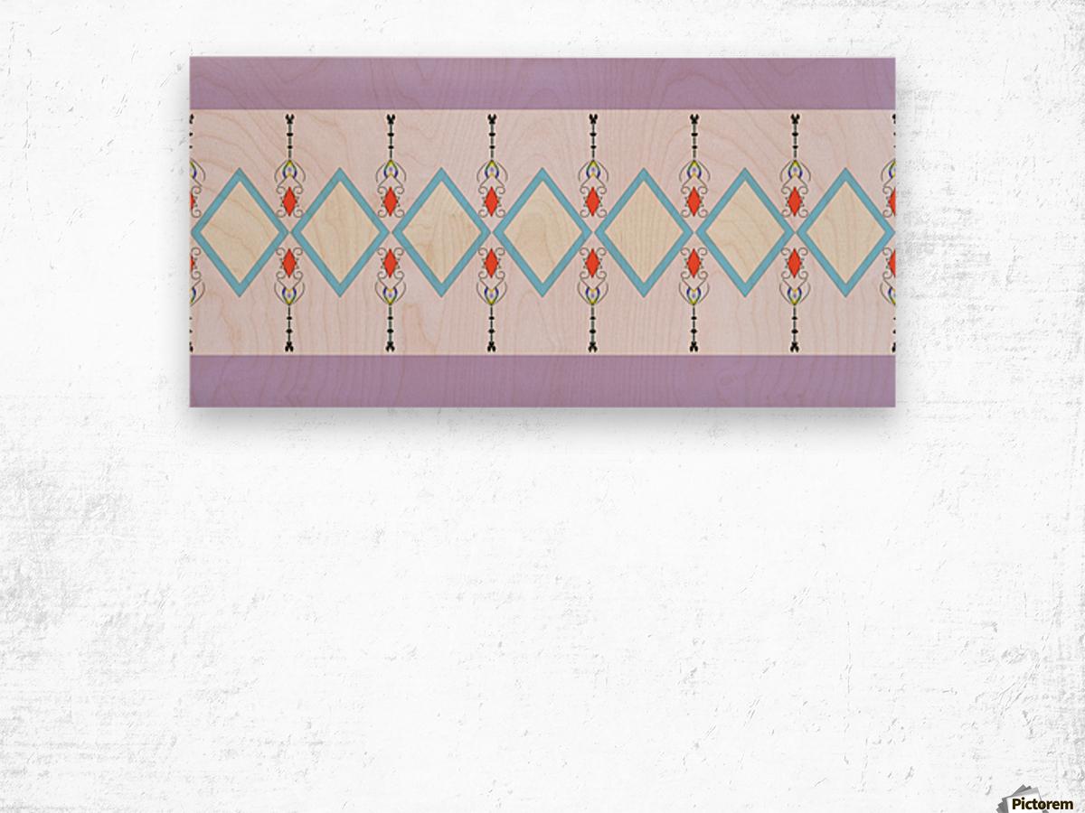 Pastel Pattern 1 Impression sur bois