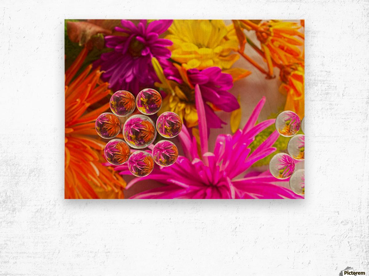 FLOWERS REFRACTION 10 Wood print