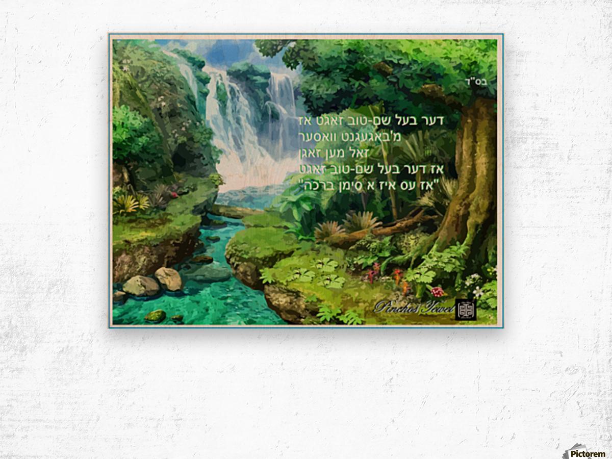 ART   water falls   baal shem tov 1 Wood print
