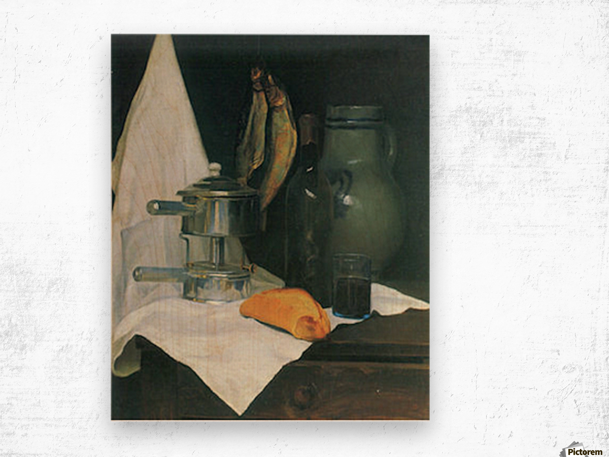 Still Life with Herrings by Felix Vallotton Wood print