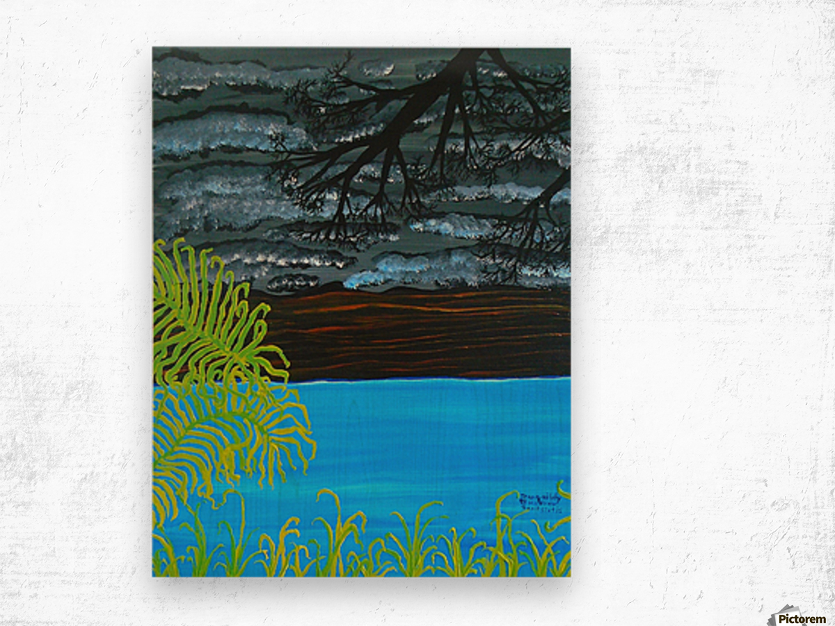 50 x2_50__1 3__tranquility R Wood print