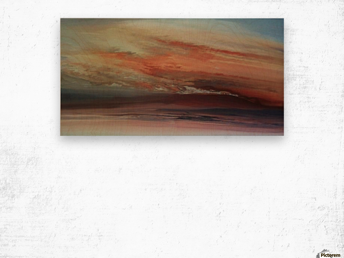 Dawn After Aquarius Full Moon Wood print