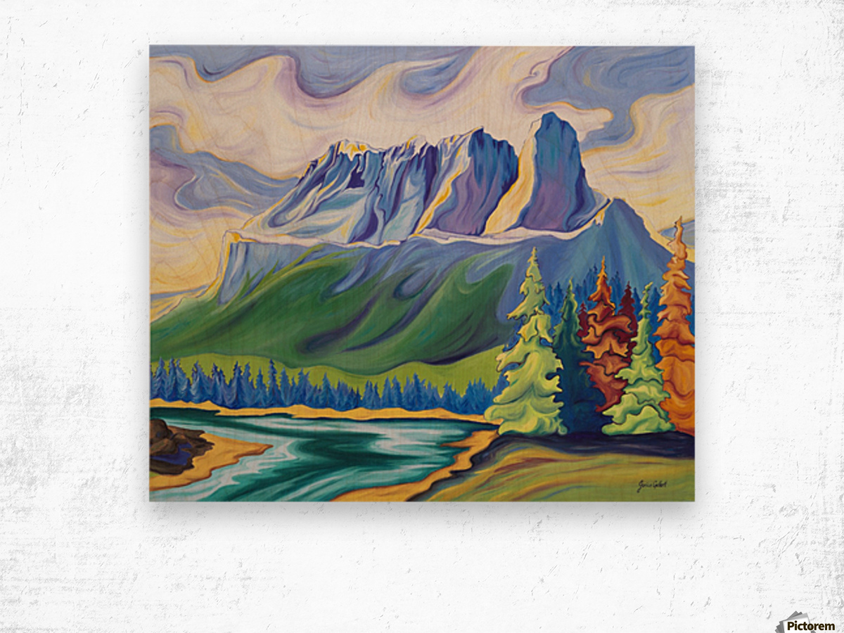 Castle Mountain Beauty Wood print