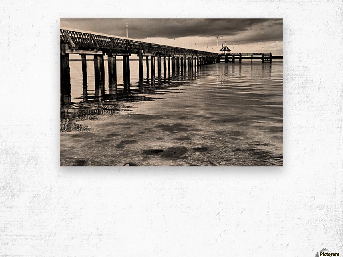 Dark Pier Impression sur bois