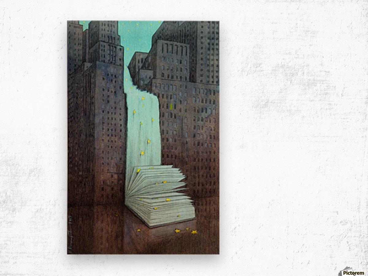 dream book Wood print