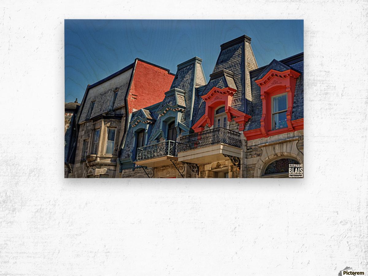 Montreal Rooftops Wood print