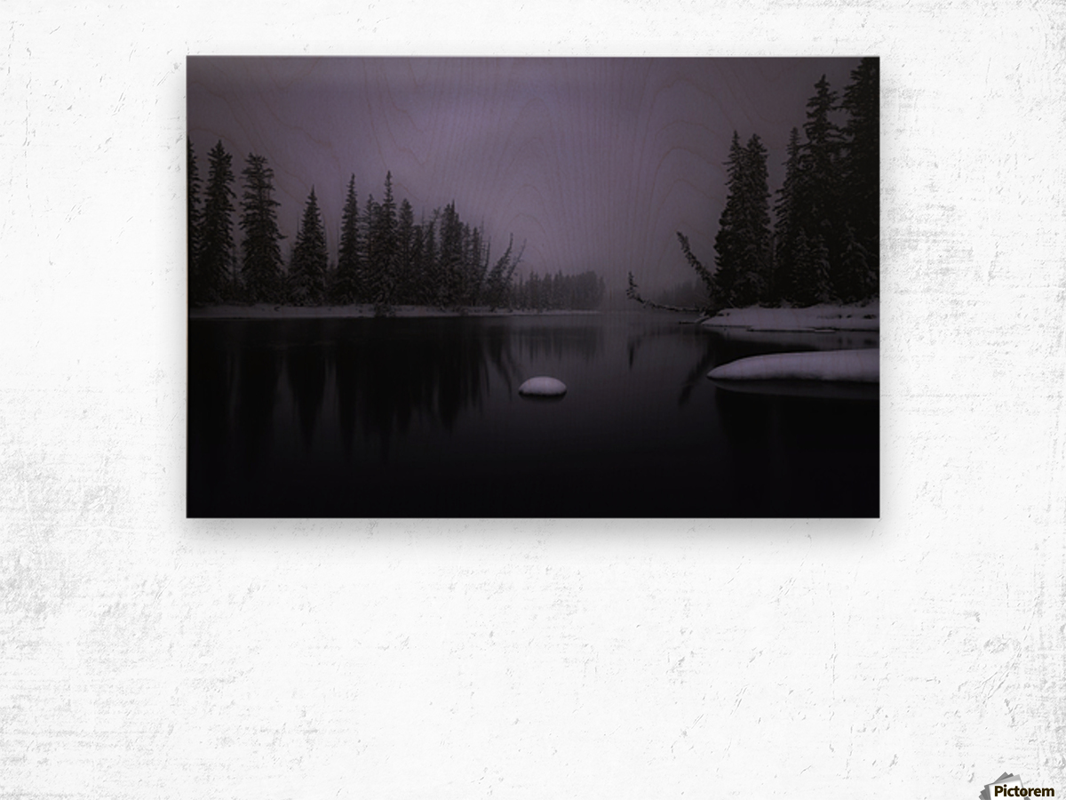 Winter Bow River Wood print
