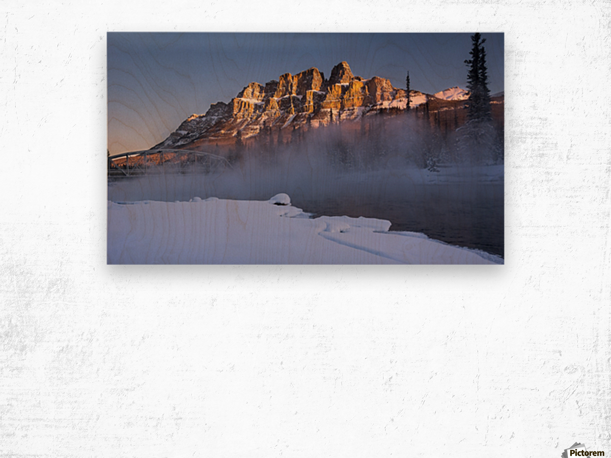 Castle morning Wood print
