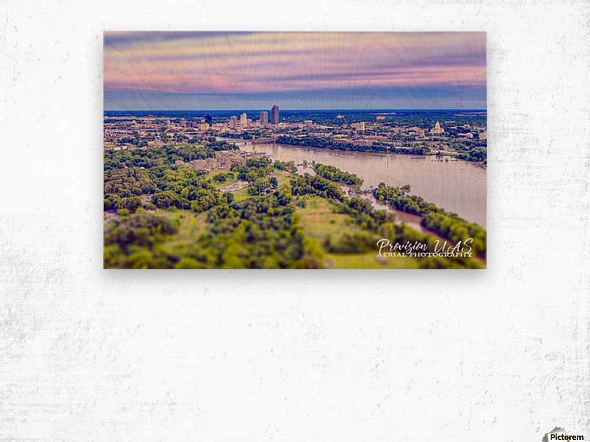 Little Rock, AR | Skyline Wood print